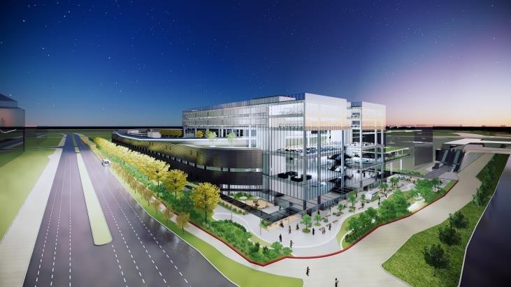 资料图片:现代移动出行全球创新中心(HMGICS)鸟瞰图 现代汽车供图(图片严禁转载复制)