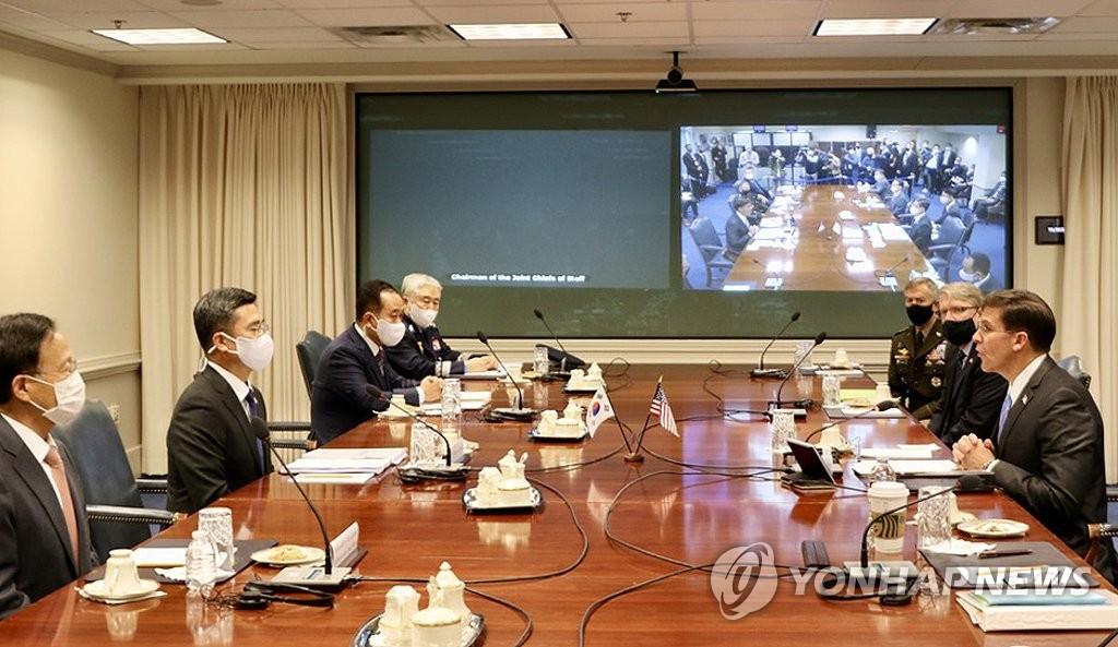 韩美防长举行安保会议讨论作战指挥权移交