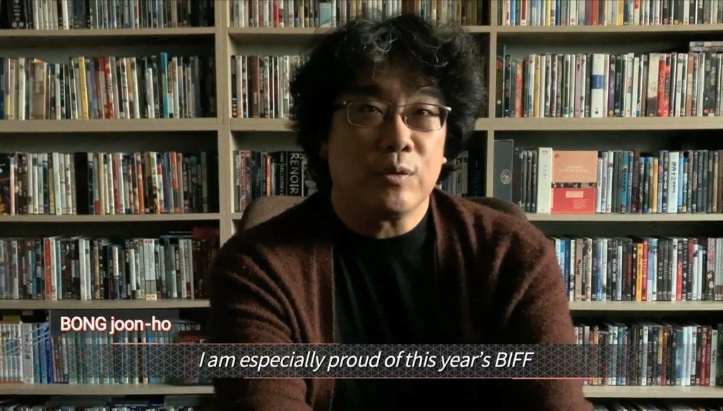奉俊昊祝贺釜山国际电影节开幕
