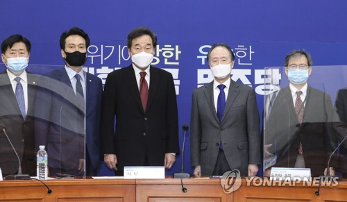 韩执政党党首李洛渊会见日本大使冨田浩司
