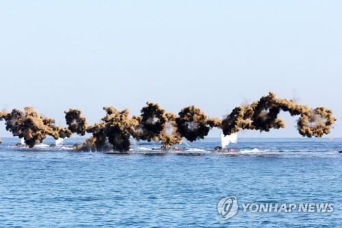 韩军举行护国演习