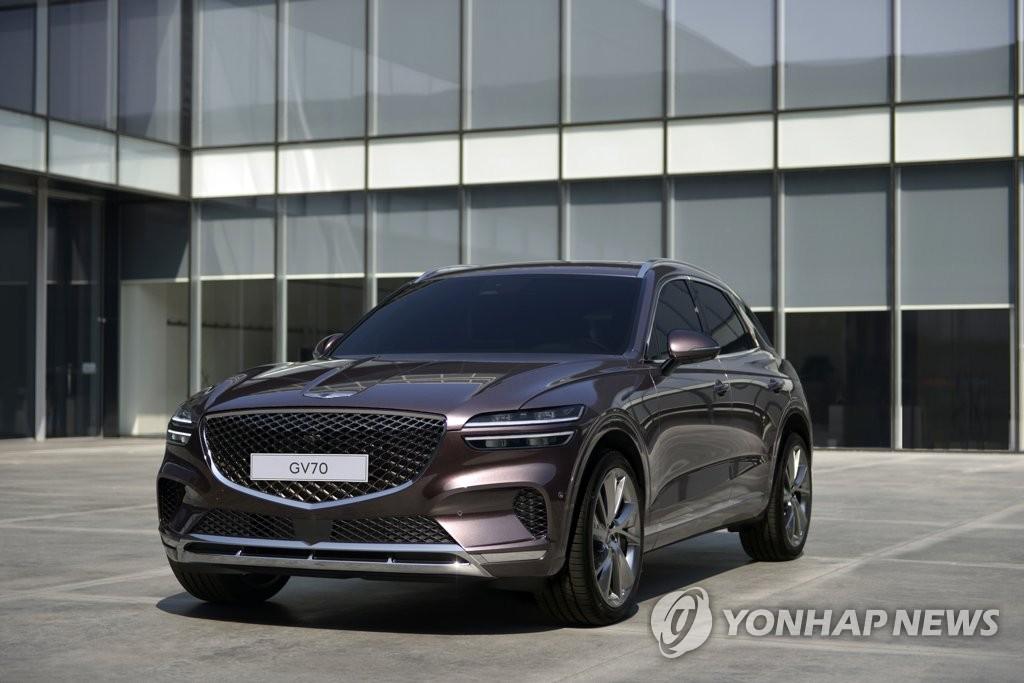 捷尼赛思G70 韩联社/现代汽车汽车供图(图片严禁转载复制)