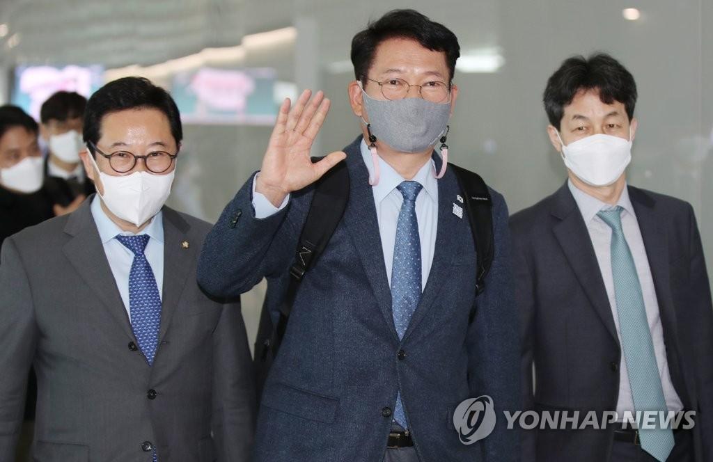 韩执政党议员团访美会见美副国务卿比根