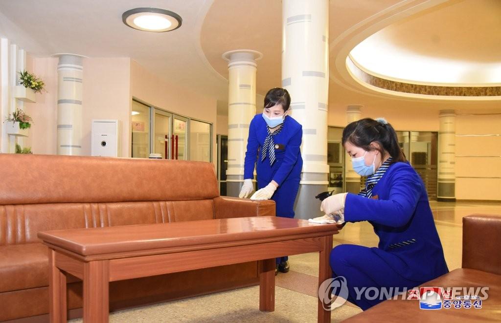 朝鲜宾馆消毒防疫