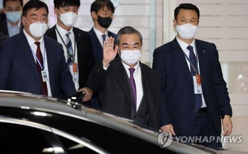 中国外长王毅访韩