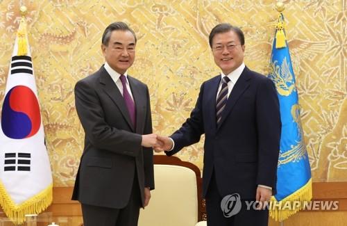 详讯:文在寅接见中国外交部长王毅