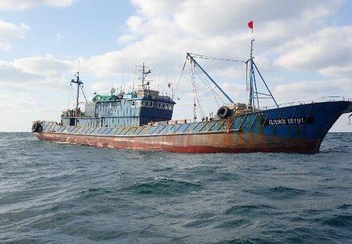 韩海水部扣押4艘非法捕捞中国渔船