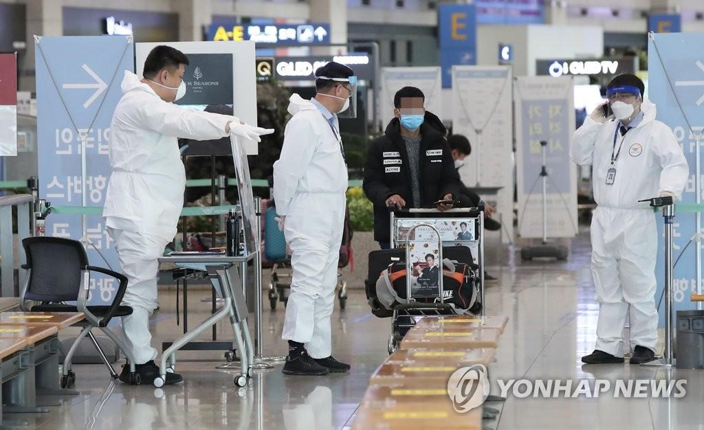 韩防疫部门:自英入境变异病毒可能发生机内传播