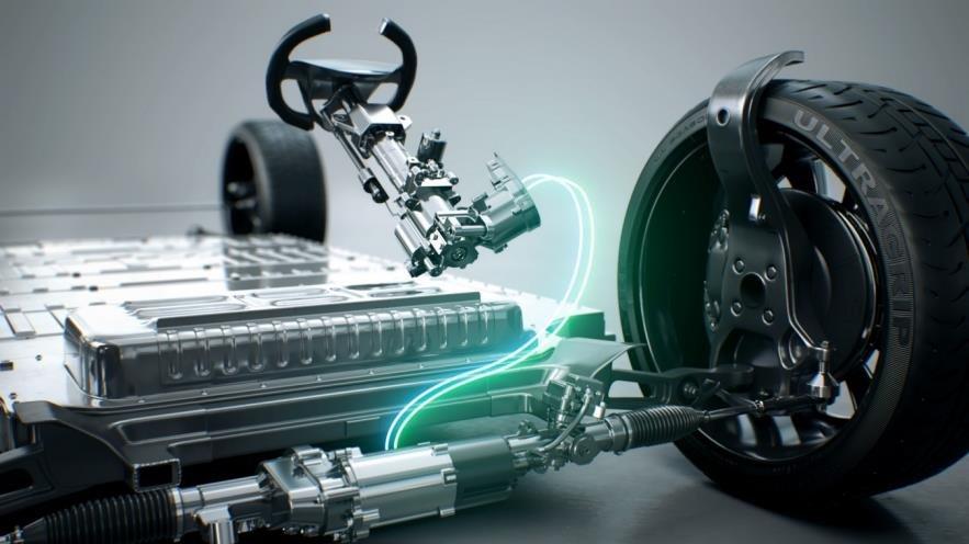 资料图片:汽车零部件企业Mando自主研发的线控转向(SBW)系统在CES上介绍荣获本年度CES创新奖。 韩联社/Mando供图(图片严禁转载复制)