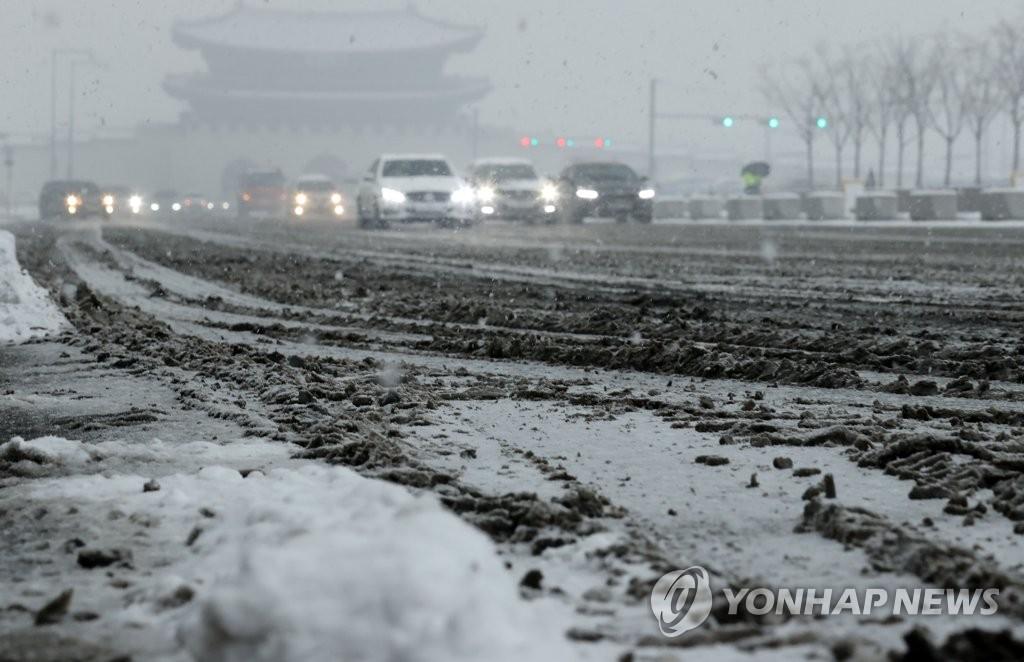 韩国迎大范围降雪天气
