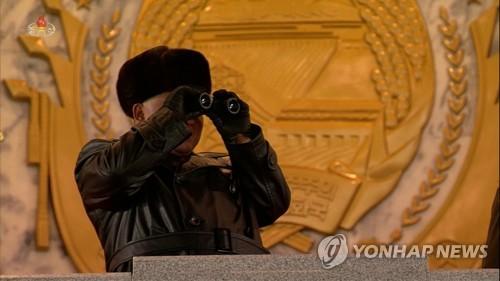 朝鲜央视录播纪念劳动党八大阅兵式