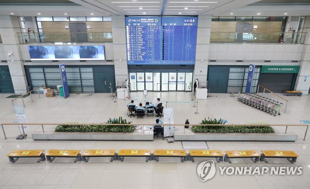 仁川国际机场到达大厅 韩联社