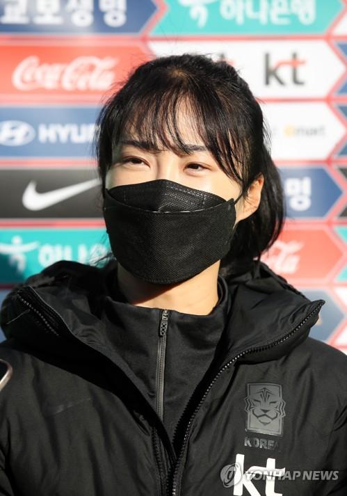 韩女足备战东京奥运预选附加赛韩中对决