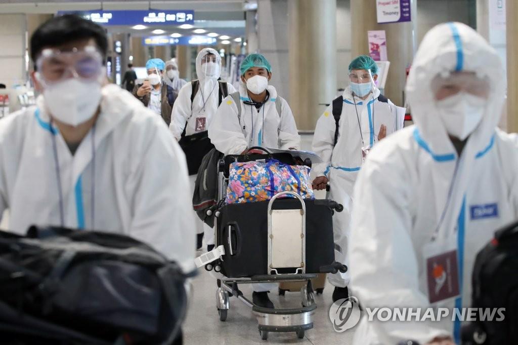 免隔离入韩人员今起须接受2次核酸检测