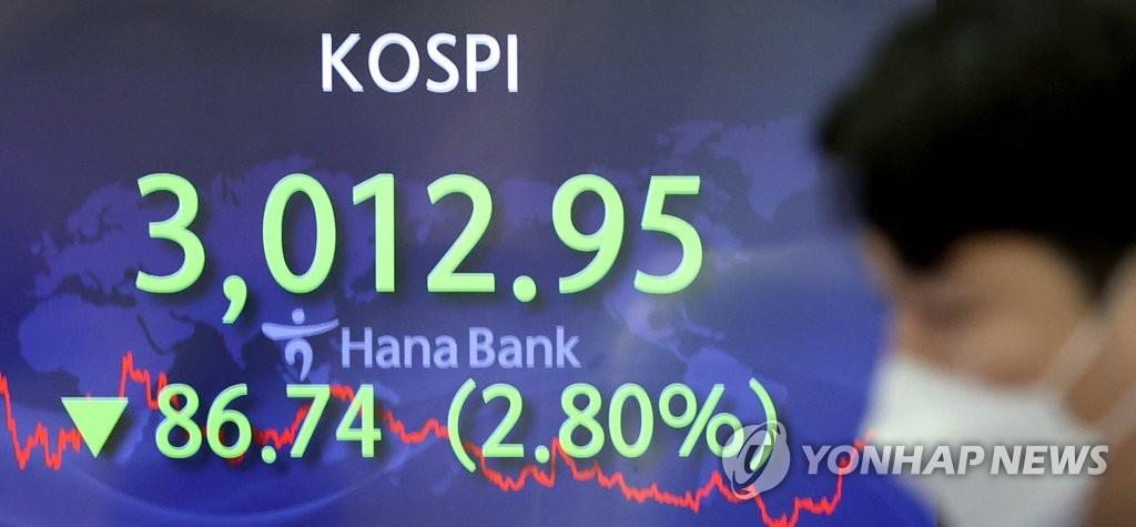 韩股市2月外资净流出近29亿美元