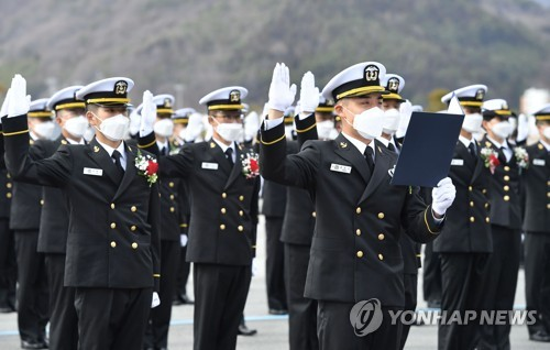 海军士官学校新生入学宣誓