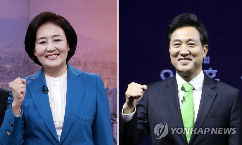 民调:首尔市长补选最大在野党候选人领先