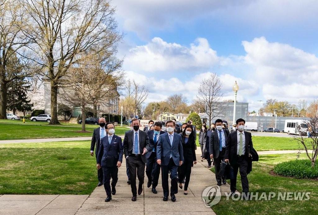 韩美就在华盛顿举行首脑会谈达成原则协议
