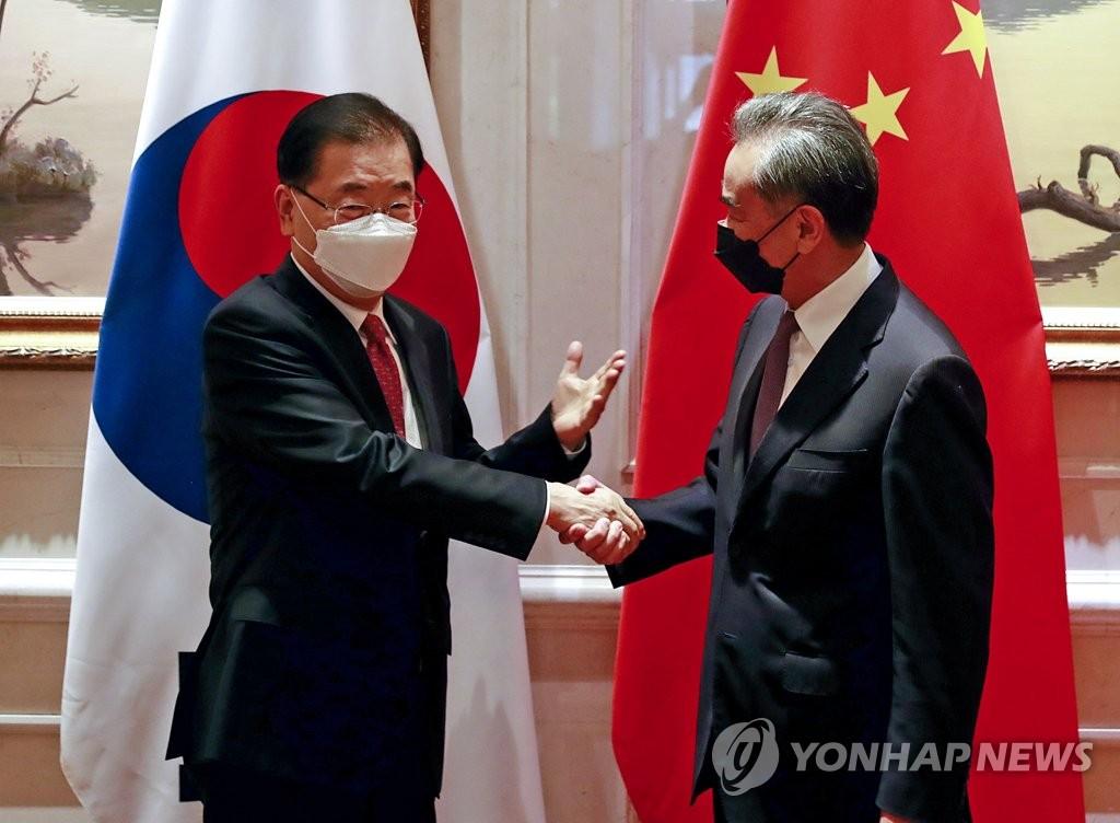 详讯:韩中外长就共同推进半岛和平进程达成共识