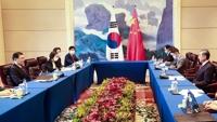 详讯:韩中各公布介绍外长会成果的新闻稿