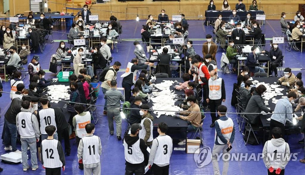 韩国四七再补选最终投票率55.5%