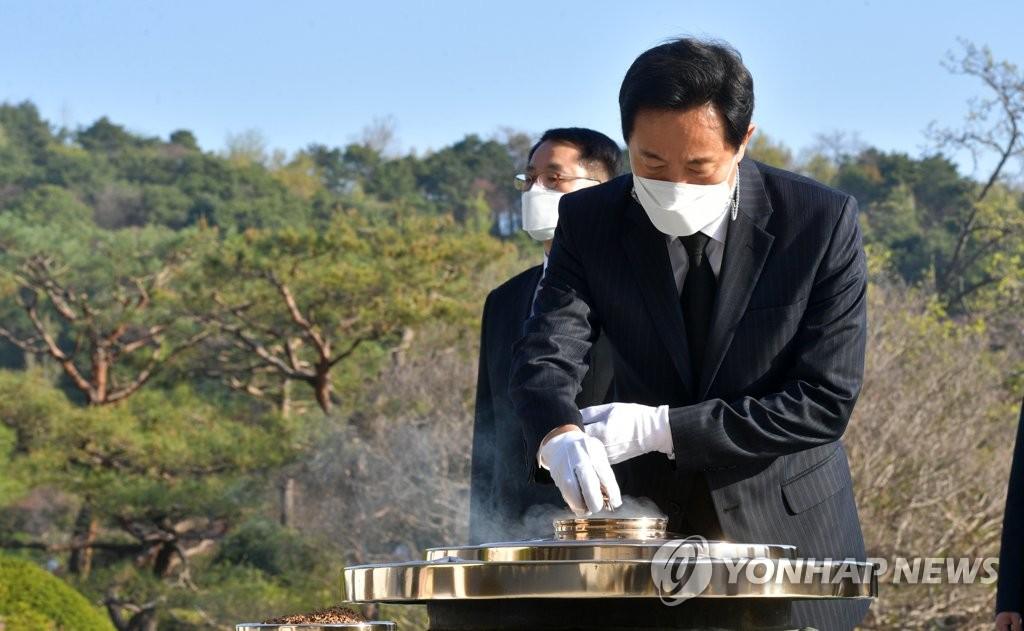 新任首尔市长参谒显忠院