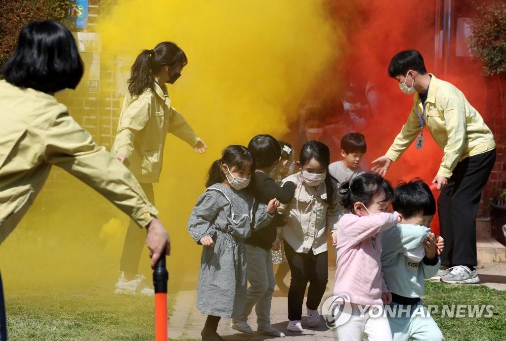 幼儿园火灾应急演习