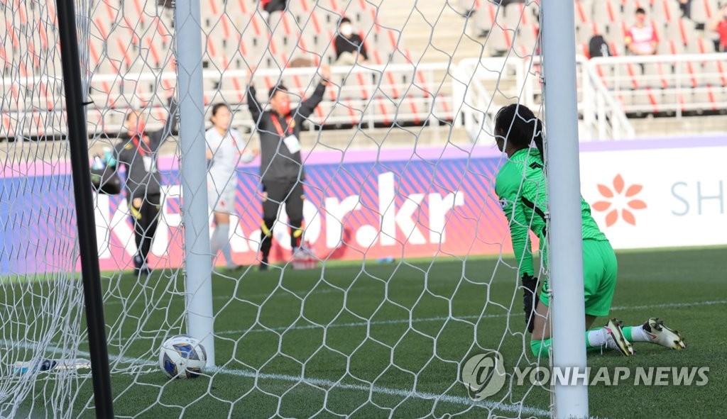 韩中女足奥预赛附加赛首回合韩国1比2惜败
