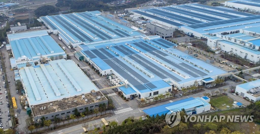 资料图片:现代汽车牙山工厂 韩联社