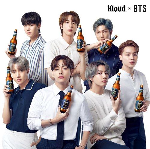 防弹少年团代言Kloud啤酒