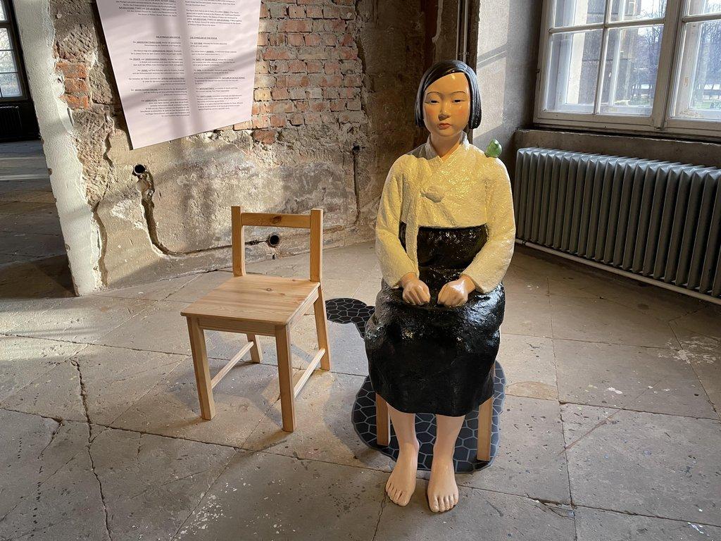 在德国国博展出的少女像