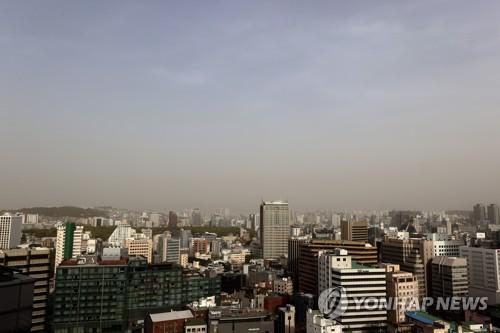 韩国多地发布沙尘暴预警