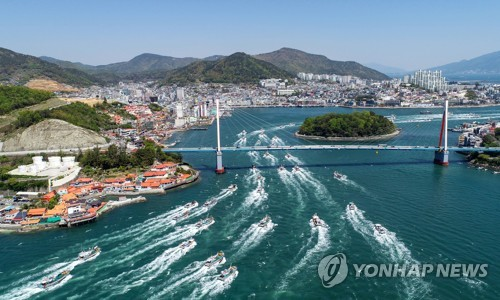 渔船示威反对日本核水入海
