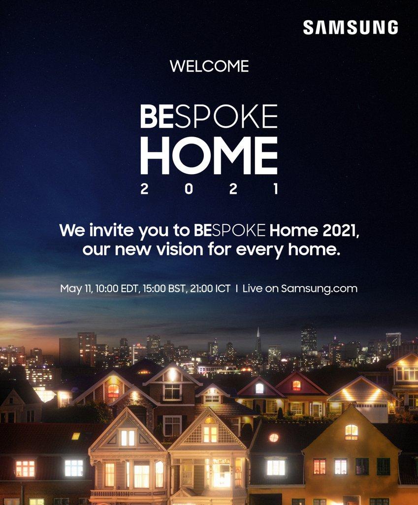 """""""BESPOKE HOME 2021""""在线活动海报 韩联社/三星电子供图(图片严禁转载复制)"""