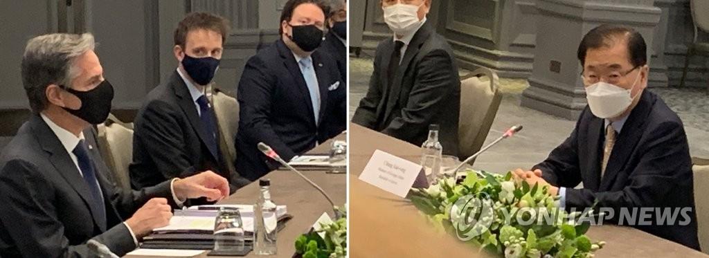详讯:韩外长在伦敦会晤美国务卿布林肯