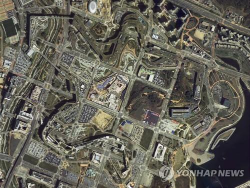 韩国政府大楼卫星图像