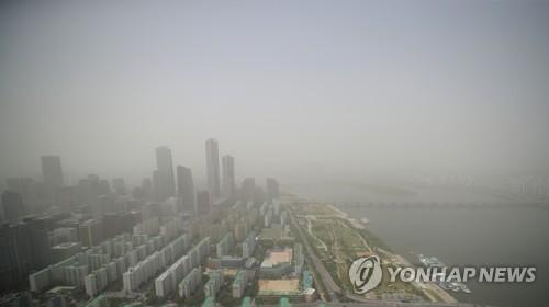 韩国大部分地区明沙尘天继续