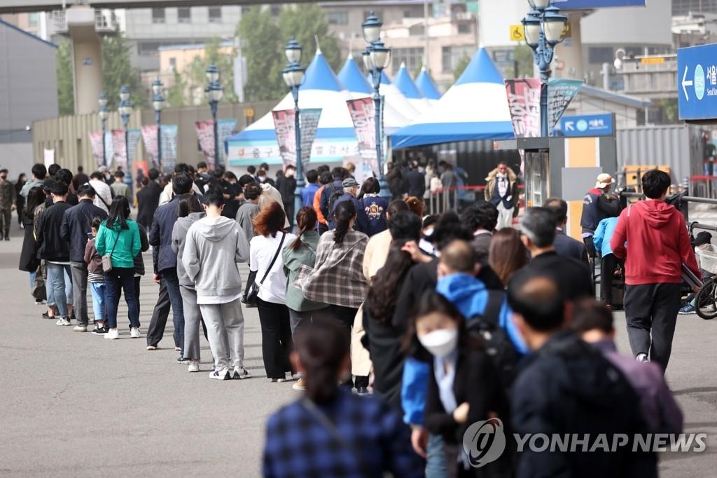 韩国新增701例新冠确诊病例 累计126745例