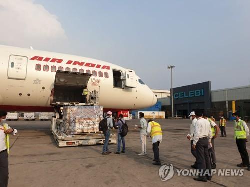 韩国援助医疗物资运抵印度