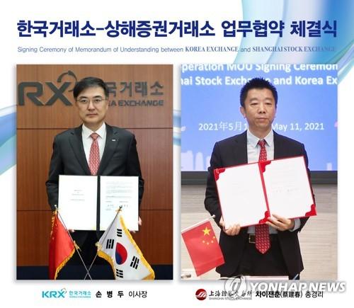 韩国交易所与上交所签署合作协议