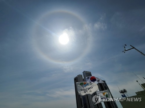 韩国东海岸现日晕景观
