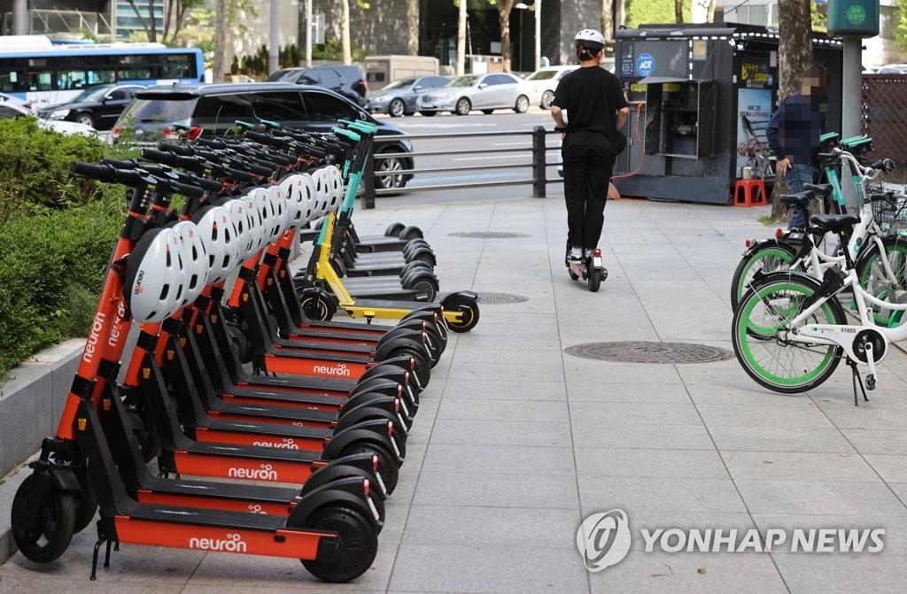 韩今起对无照驾驶电动滑板车处以罚款