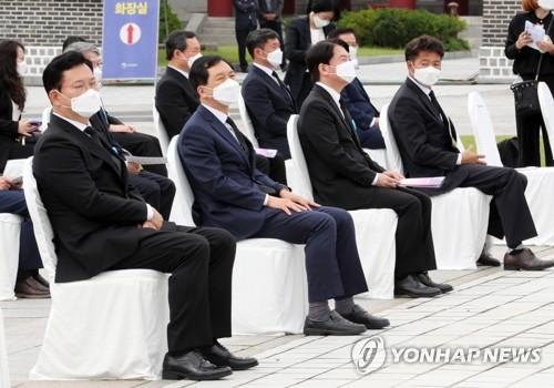各党党首出席五一八民运纪念仪式