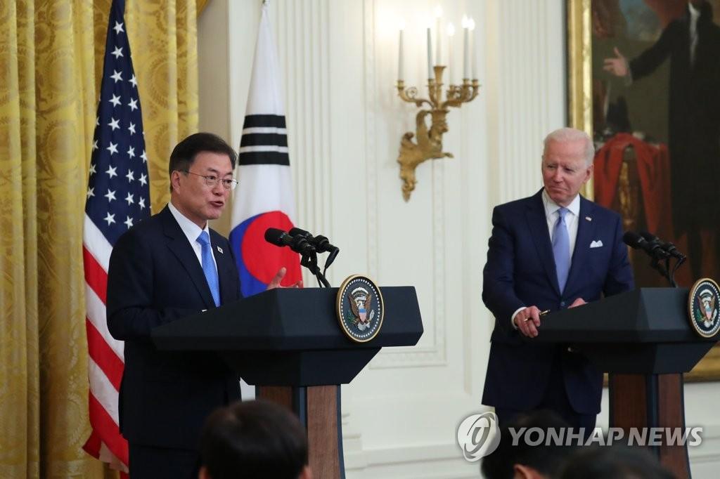 韩美领导人发表联合声明强调与朝对话