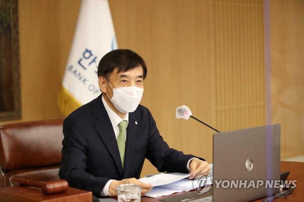 资料图片:韩国银行行长李柱烈 韩联社