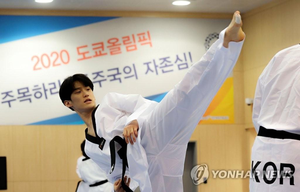 资料图片:跆拳道选手李大勋 韩联社