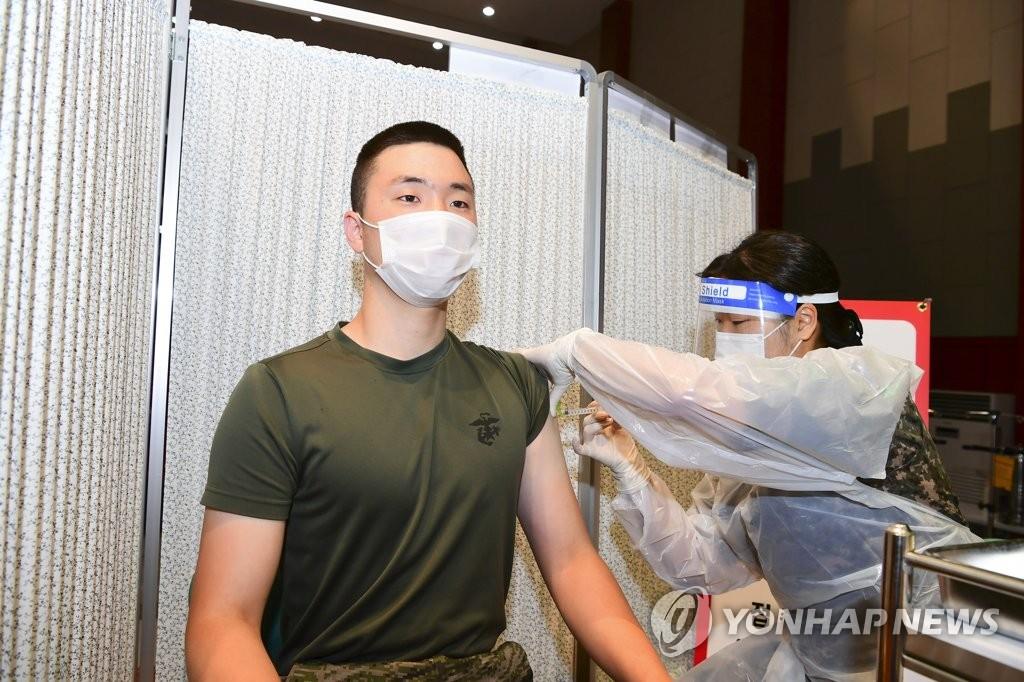 韩军针对接种疫苗官兵出台新版防疫指南