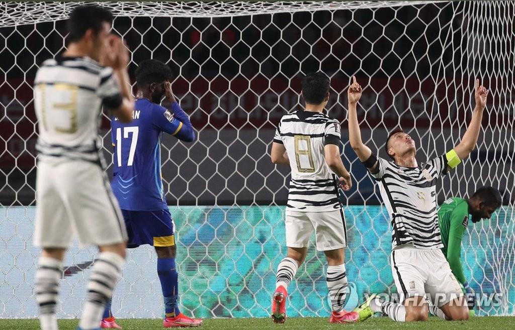 世预赛韩国5比0战胜斯里兰卡