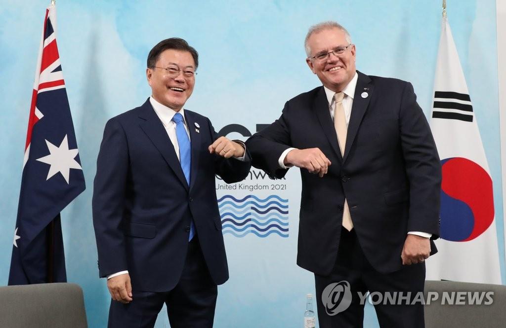 韩澳首脑会谈商定拓宽低碳技术领域合作