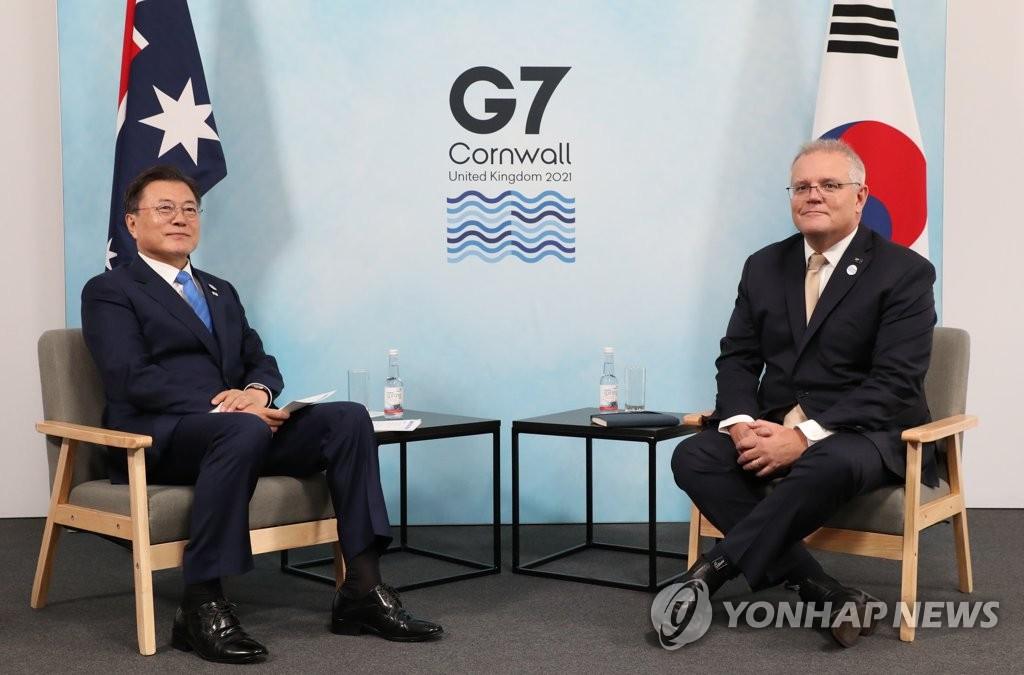 韩澳领导人会谈